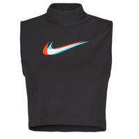 Ruhák Női Trikók / Ujjatlan pólók Nike W NSW TANK MOCK PRNT Fekete