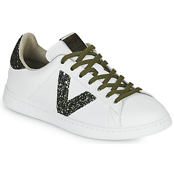 Cipők Női Rövid szárú edzőcipők Victoria TENIS PIEL Fehér / Fekete