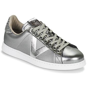 Cipők Női Rövid szárú edzőcipők Victoria TENIS METAL Ezüst