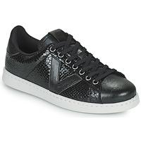 Cipők Női Rövid szárú edzőcipők Victoria TENIS SERPIENTE Fekete
