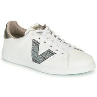 Cipők Női Rövid szárú edzőcipők Victoria TENIS PIEL VEGANA Fehér / Szürke
