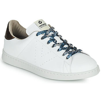 Cipők Női Rövid szárú edzőcipők Victoria TENIS VEGANO SERPIENTE Fehér / Bronz