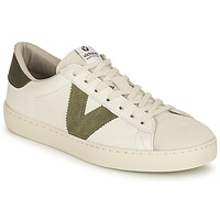 Cipők Női Rövid szárú edzőcipők Victoria BERLIN PIEL CONTRASTE Fehér / Keki