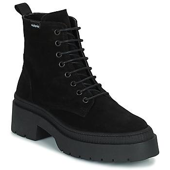 Cipők Női Csizmák Victoria CIELO SERRAJE Fekete