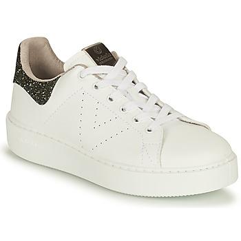 Cipők Női Rövid szárú edzőcipők Victoria UTOPIA VEGANA GLITTER Fehér / Fekete
