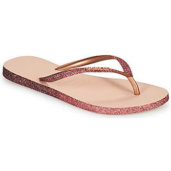 Cipők Női Lábujjközös papucsok Havaianas SLIM SPARKLE II Rózsaszín