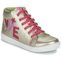 Cipők Lány Magas szárú edzőcipők Agatha Ruiz de la Prada FLOW Bézs / Rózsaszín