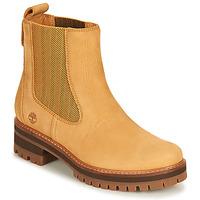 Cipők Női Csizmák Timberland COURMAYEUR VALLEY CHELSEA Búza