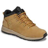 Cipők Gyerek Rövid szárú edzőcipők Timberland SPRINT TREKKER MID Búza