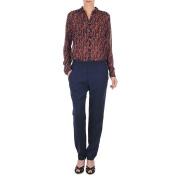 Ruhák Női Lenge nadrágok Marc O'Polo ALBA Kék / Sötét / Piros