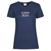Ruhák Női Rövid ujjú pólók Tommy Jeans TJW SKINNY ESSENTIAL TOMMY T SS Tengerész