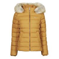 Ruhák Női Steppelt kabátok Tommy Jeans TJW BASIC HOODED DOWN JACKET Mustár sárga