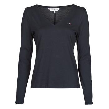 Ruhák Női Hosszú ujjú pólók Tommy Hilfiger REGULAR CLASSIC V-NK TOP LS Tengerész