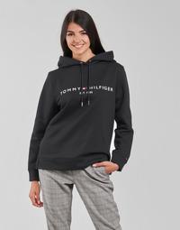 Ruhák Női Pulóverek Tommy Hilfiger HERITAGE HILFIGER HOODIE LS Fekete