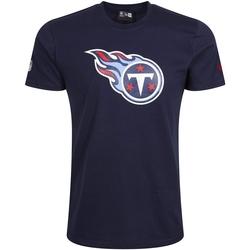 Ruhák Férfi Rövid ujjú pólók New-Era Tennessee Titans Team Logo Kék