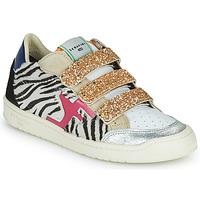 Cipők Női Rövid szárú edzőcipők Serafini SAN DIEGO Arany / Fehér / Fekete