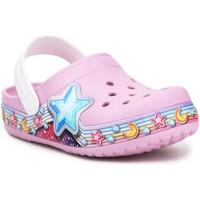 Cipők Lány Klumpák Crocs FL Star Band Clog 207075-6GD fioletowy