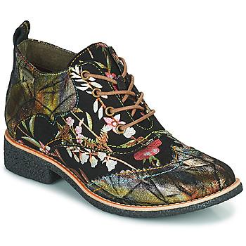 Cipők Női Csizmák Laura Vita COCRALIEO Fekete  / Zöld / Rózsaszín