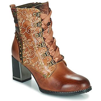 Cipők Női Bokacsizmák Laura Vita KACIO Barna