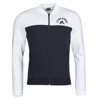 Ruhák Férfi Melegítő kabátok Le Coq Sportif SAISON 2 FZ SWEAT N 1 Tengerész / Fehér
