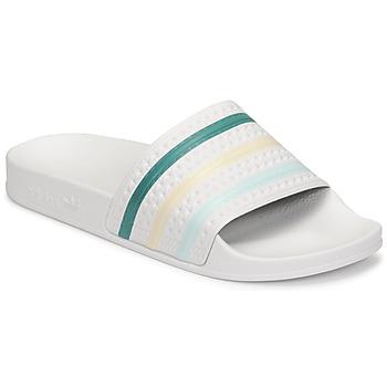 Cipők Női strandpapucsok adidas Originals ADILETTE Fehér / Zöld / Rózsaszín