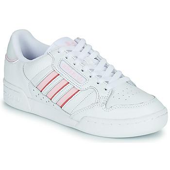 Cipők Női Rövid szárú edzőcipők adidas Originals CONTINENTAL 80 STRI Fehér / Rózsaszín