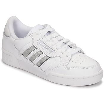 Cipők Női Rövid szárú edzőcipők adidas Originals CONTINENTAL 80 STRI Fehér / Ezüst