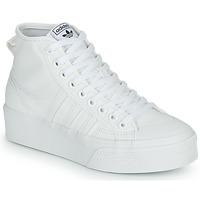 Cipők Női Magas szárú edzőcipők adidas Originals NIZZA PLATFORM MID Fehér