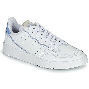 Cipők Rövid szárú edzőcipők adidas Originals SUPERCOURT Fehér / Kék