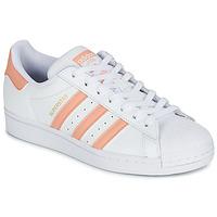Cipők Női Rövid szárú edzőcipők adidas Originals SUPERSTAR Fehér / Rózsaszín