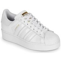 Cipők Női Rövid szárú edzőcipők adidas Originals SUPERSTAR BOLD W Fehér