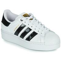 Cipők Női Rövid szárú edzőcipők adidas Originals SUPERSTAR BOLD W Fehér / Fekete  / Fényes