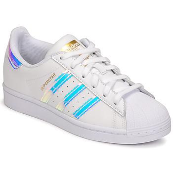 Cipők Női Rövid szárú edzőcipők adidas Originals SUPERSTAR W Fehér / Irizáló