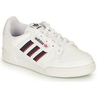 Cipők Gyerek Rövid szárú edzőcipők adidas Originals CONTINENTAL 80 STRI C Fehér / Kék