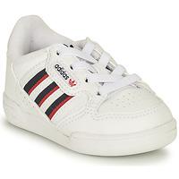 Cipők Gyerek Rövid szárú edzőcipők adidas Originals CONTINENTAL 80 STRI I Fehér / Kék