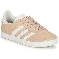 Cipők Lány Rövid szárú edzőcipők adidas Originals GAZELLE J Rózsaszín