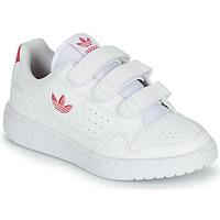 Cipők Lány Rövid szárú edzőcipők adidas Originals NY 90  CF C Fehér / Rózsaszín