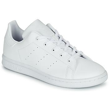Cipők Gyerek Rövid szárú edzőcipők adidas Originals STAN SMITH C Fehér