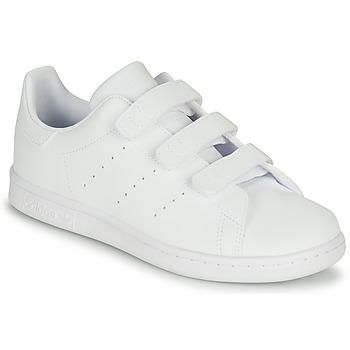Cipők Gyerek Rövid szárú edzőcipők adidas Originals STAN SMITH CF C Fehér