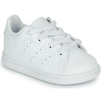 Cipők Gyerek Rövid szárú edzőcipők adidas Originals STAN SMITH EL I Fehér
