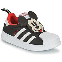 Cipők Fiú Rövid szárú edzőcipők adidas Originals SUPERSTAR 360 C Fekete  / Mickey