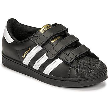 Cipők Gyerek Rövid szárú edzőcipők adidas Originals SUPERSTAR CF C Fekete  / Fehér