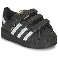 Cipők Gyerek Rövid szárú edzőcipők adidas Originals SUPERSTAR CF I Fekete  / Fehér