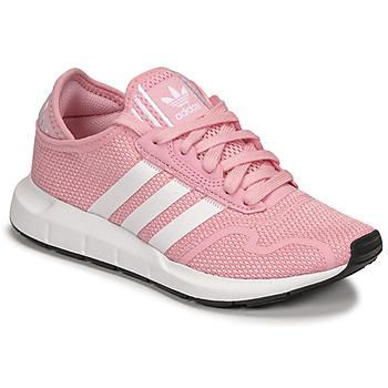 Cipők Lány Rövid szárú edzőcipők adidas Originals SWIFT RUN X J Rózsaszín / Fehér