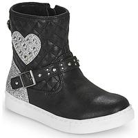 Cipők Lány Csizmák Primigi B&G LUX Fekete  / Ezüst