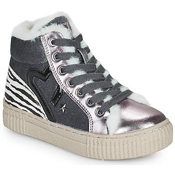 Cipők Lány Magas szárú edzőcipők Primigi GIRL ALPHA Ezüst