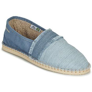 Cipők Gyékény talpú cipők Havaianas ESPADRILLE FUR Kék