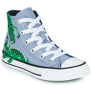Cipők Gyerek Magas szárú edzőcipők Converse CHUCK TAYLOR ALL STAR DINO DAZE HI Kék / Zöld