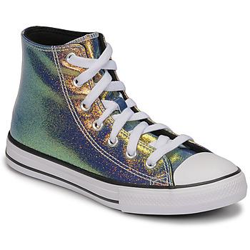 Cipők Lány Magas szárú edzőcipők Converse CHUCK TAYLOR ALL STAR IRIDESCENT GLITTER HI Ezüst