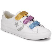 Cipők Lány Rövid szárú edzőcipők Converse STAR PLAYER 3V GLITTER TEXTILE OX Fehér / Sokszínű